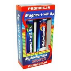 Zdrovit Magnez z wit. B6 + x24 tabletki musujące + Multiwitamina 24 tab. musujące GRATIS