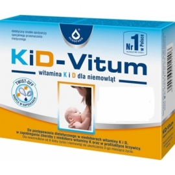 KiD-Vitum - witamina K i D dla niemowląt, 48 kapsułek Twist off