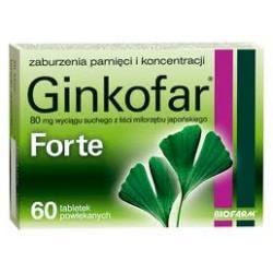 Ginkofar Forte, 60 tabletek