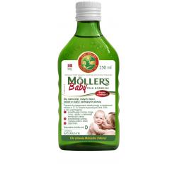 Mollers Baby Tran norweski o aromacie naturalnym 250 ml