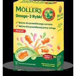 Mollers omega 3 rybki żelki x 36 sztuk