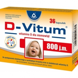 D-Vitum witamina D 800 j.m. DLA NIEMOWLĄT  36 KAPSUŁEK