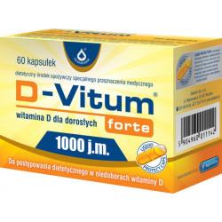 D-Vitum Forte 1000 j.m., kapsułki, witamina D dla dorosłych, 60 szt