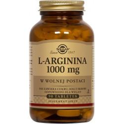 SOLGAR L-arginina 1000mg 90 tabletek