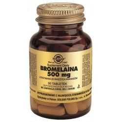 SOLGAR Bromelaina  500 mg 30 tabletek