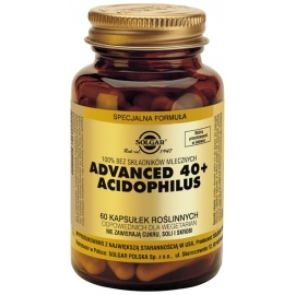 SOLGAR Advanced 40+ Acidophilus,  60 kapsułek