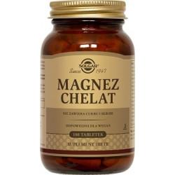 SOLGAR Magnez chelat aminokwas x 100 tabletek