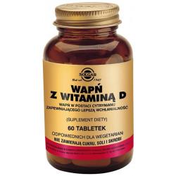 SOLGAR Wapń z witaminą D, 60 tabletek w postaci cytrynianiu