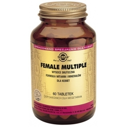 SOLGAR Female Multiple, witaminy dla kobiet, 60 tabletek
