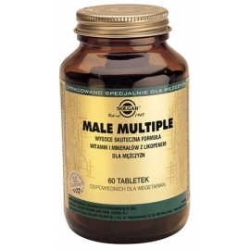 SOLGAR Male Multiple witaminy  dla mężczyzn 60 tabletek
