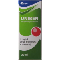 Uniben aerozol do stos. w jamie ustnej 1,5mg/ml, 30ml