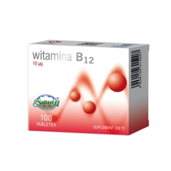 Witamina B12 0,01mg 100 tabl. Naturell