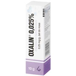 Oxalin 0.025% żel do nosa  10g