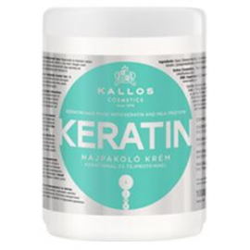 KALLOS Maska-krem do włosów z Keratyną 1000 ml