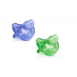 Chicco smoczek uspokajający 0m+ PhysioSoft MIX kolorów zielony lub niebieski