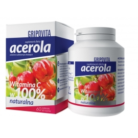Acerola Gripovita 60 tabletek do ssania