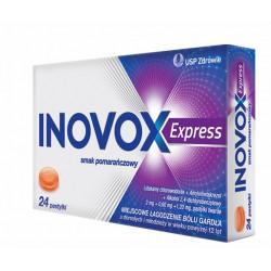 Inovox Express smak pomarańczowy x 24 pastyl. tward.