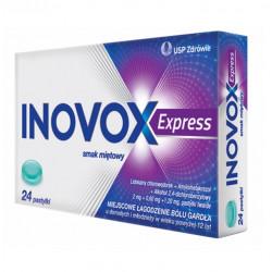 Inovox Express smak miętowy x 24 pastyl. twarde 29.02.2020 r.