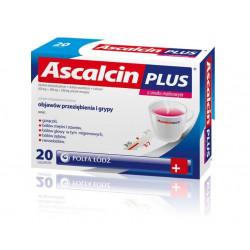 Ascalcin Plus 20 saszetek malinowych