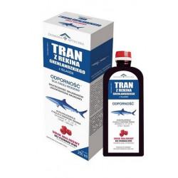 Tran z rekina grenlandzkiego Domowa Apteczka syrop malinowy 250 ml