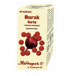 Burak Forte z żelazem i witaminą C x 60 tabl.