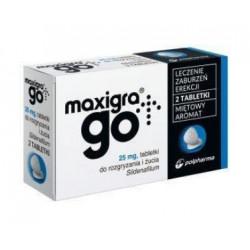 Maxigra 0,025g x 2 tabletki do rozgryzania i żucia
