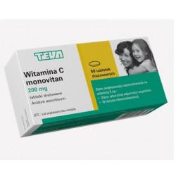 Monovitan witamina C 200 x 50 drażetek