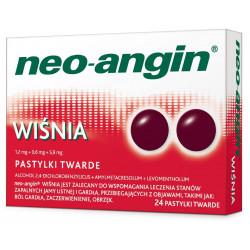Neo-Angin wiśnia x 24 pastylek twardych