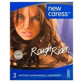 Prezerwatywy NEW CARESS ROUGH RIDER z wypustkami x 3szt.
