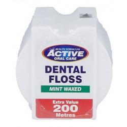 Nić dentystyczna Active miętowa, woskowana 200m