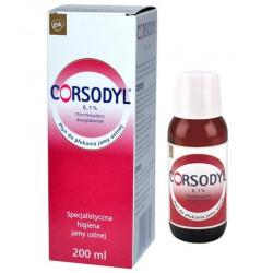 CORSODYL 0,1% Płyn do płukania jamy ustej  200 ml