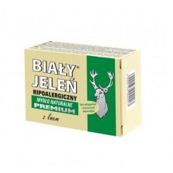 BIAŁY JELEŃ hipoalergiczne mydło premium z lnem  100 g (kartonik)