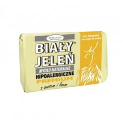 BIAŁY JELEŃ Hipoalergiczne mydło z ekstraktem z owsem i lnem 100g