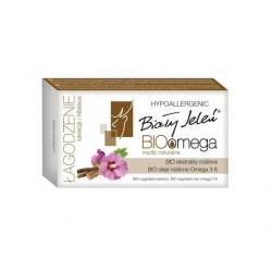 BIAŁY JELEŃ Hipoalergiczne mydło naturalne BIOomega z lukrecją i hibiskusem 85g