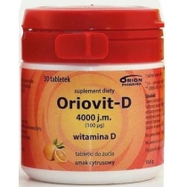 Oriovit-D 4000 j.m. (100mcg) x 100 tabletek do żucia