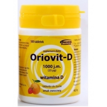 Oriovit-D 1000 j.m. (25mcg) 100 tabletek do żucia