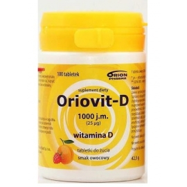 Oriovit-D 2000 j.m. (50mcg)  100 tabletek do żucia