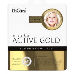 L'biotica Maska hydrożelowa ACTIVE GOLD na tkaninie 25g
