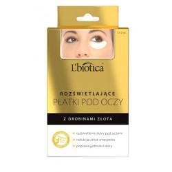 L'biotica rozświetlające płatki pod oczy z drobinami złota 3x2 szt.