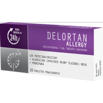 Delortan Allergy 5 mg x 10 tabl. powl.
