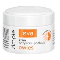 EVA SIMPLE Krem odżywczy-półtłusty z owsem 50 ml