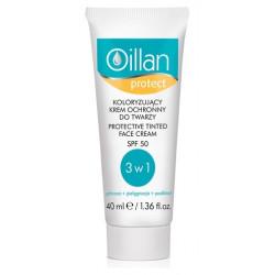 Oillan Protect koloryzujący krem ochronny do twarzy SPF50  40 ml