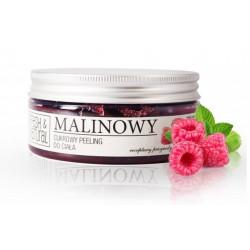Fresh&Natural Cukrowy peeling do ciała malinowy 250g