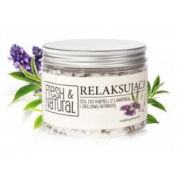 Fresh&Natural Relaksująca sól do kąpieli z lawendą i zieloną herbatą 500g