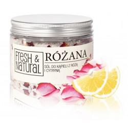 Fresh&Natural Różana sól do kąpieli z różą i cytryną 500g