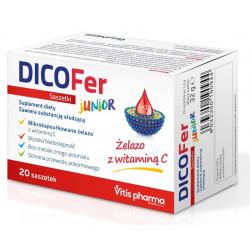 Dicofer Junior żelazo z witaminą C 20 saszetek