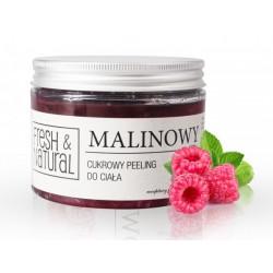 Fresh&Natural Cukrowy peeling do ciała malinowy 550g