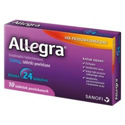 Allegra 120 mg x 10 tabletek