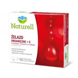 Naturell Żelazo Organiczne + C Naturell x 60 tabletek do ssania