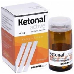 Ketonal Active 50 mg x 10 kaps. twardych